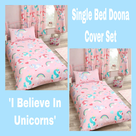 Single Bed Doona Cover Set ~ Believe In Unicorns - PRE ORDER