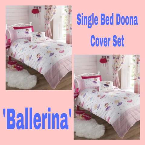 Single Bed Doona Cover Set ~ Ballerina