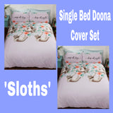 Single Bed Doona Cover Set ~ Sloths