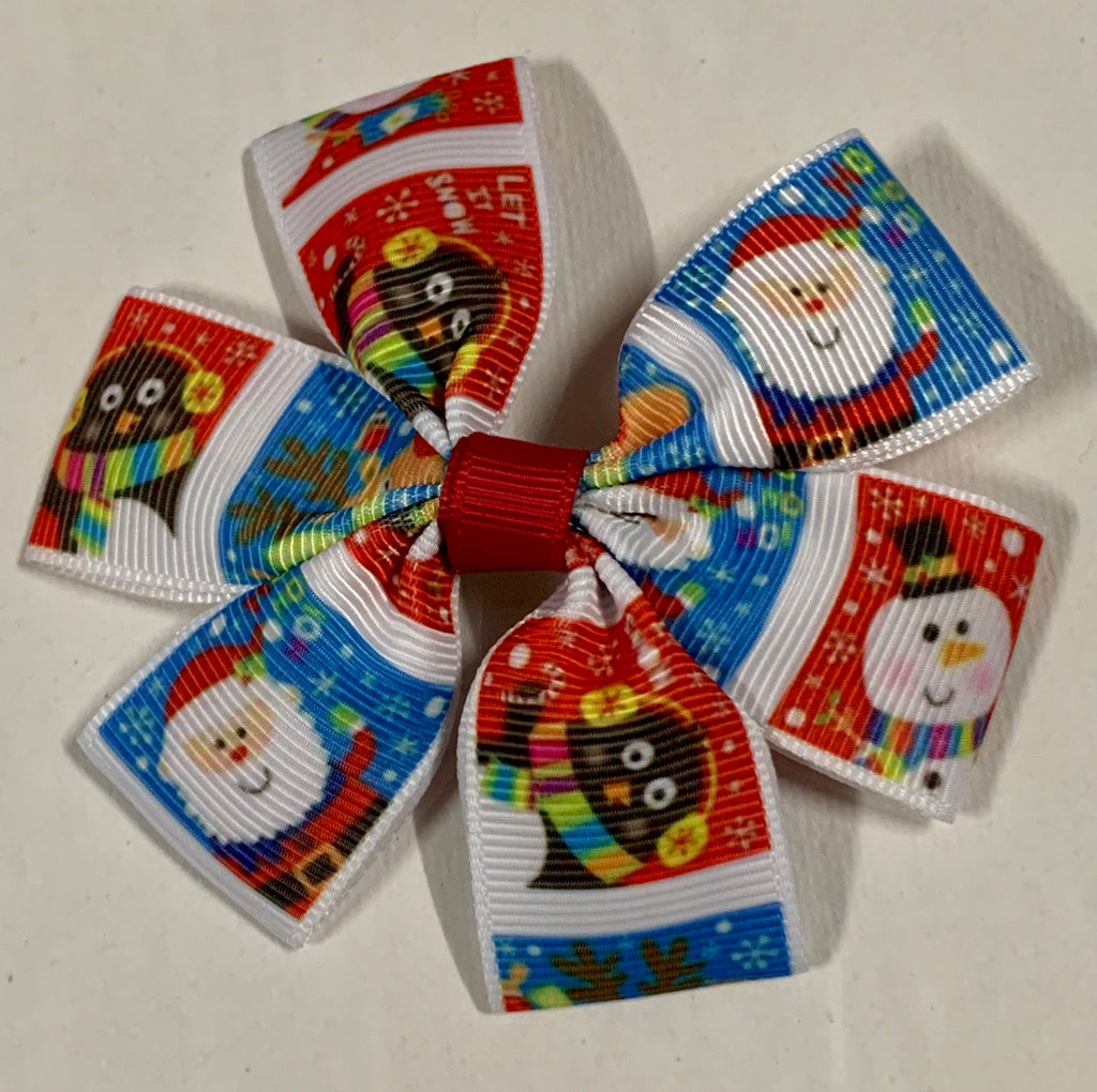 Hair Clips Set Of One 'Winter Wonderland' ~ Christmas