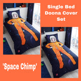 Single Bed Doona Cover Set 'Chimp' ~ Space - SALE