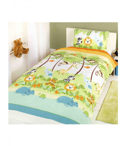 Cot / Toddler Bed Doona Cover Set ~  Jungle Boogie