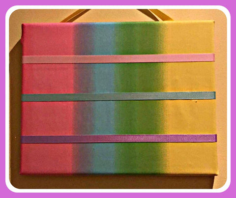 Hair Clips Hanging Display ~ Rainbow