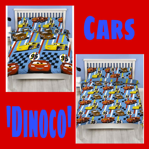 Double / Queen Bed Doona Cover Set 'Dinoco' ~ Cars - SALE