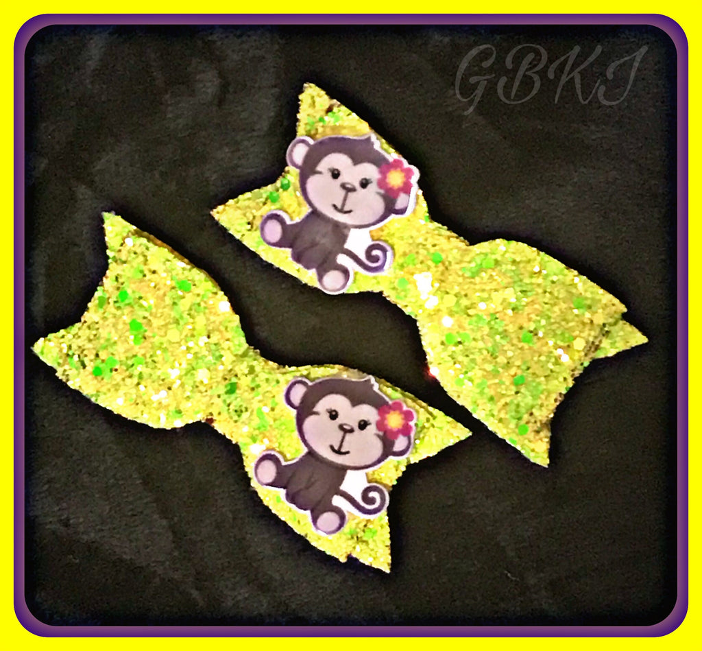 MONKEY 'Bananas' Hair Clips Set Of 2