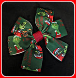 Hair Clips Set Of One 'Grinch' ~ Christmas - SALE