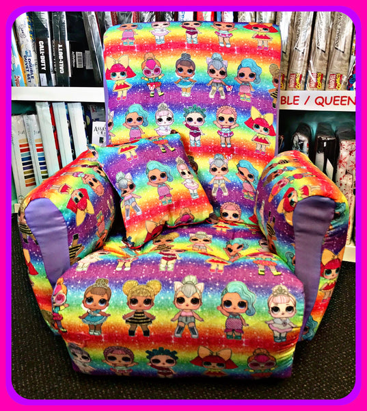 Lol Surprise Doll Rainbow Wooden Framed Upholstered Kids