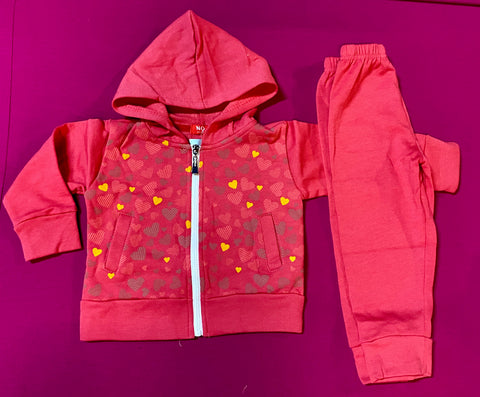 Tracksuit 'Orange Hearts' ~ SALE