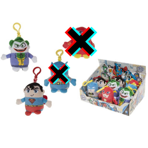 Mini Plush Keyrings - DC Comics