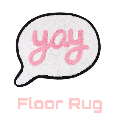 Floor Rug 'Yay' ~ Speech Bubbles - SALE