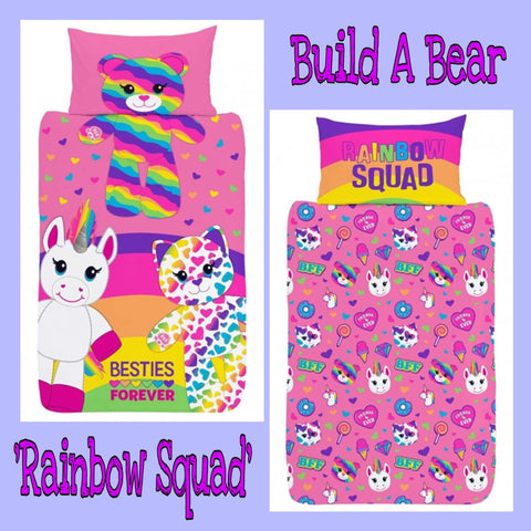 Single Bed Doona Cover Set 'Besties Forever' ~ Build A Bear - SALE