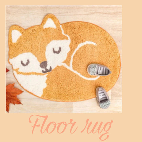 Floor Rug 'Woodlands' ~ Fox - SALE