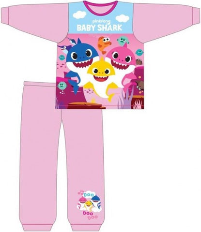 Long Cotton PJ's 'Pink & Blue' ~ Baby Shark