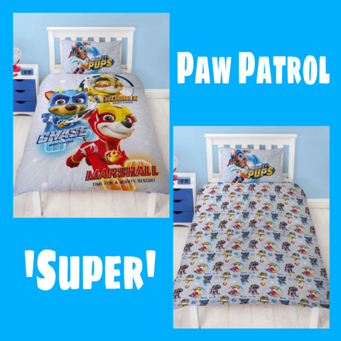 Single Bed Panel Doona Cover Set 'Super' ~ Paw Patrol