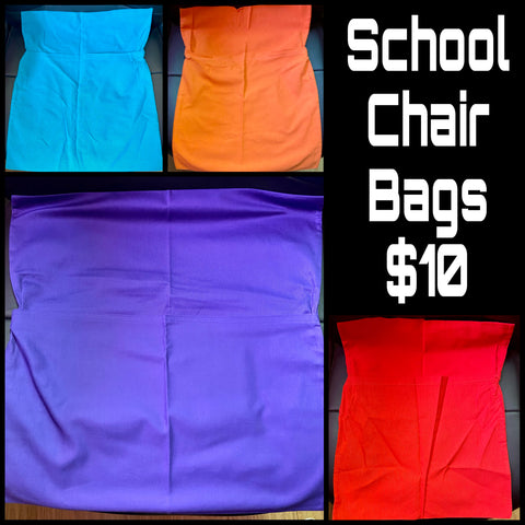 School Chair Bags ~ Choose Colour