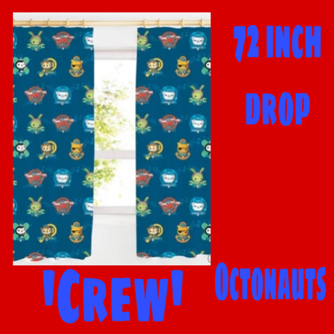 Curtains 72 inch 'Crew' ~ Octonauts - SALE