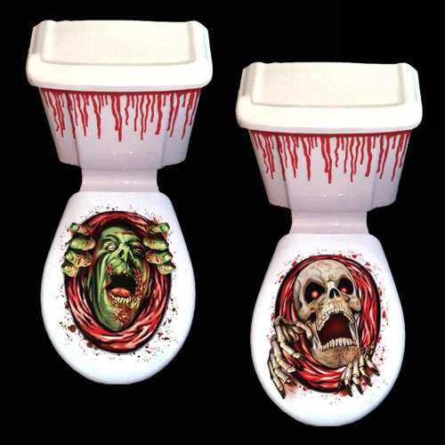 HALLOWEEN 'Spooky' Toilet & Cistern Decoration - SALE