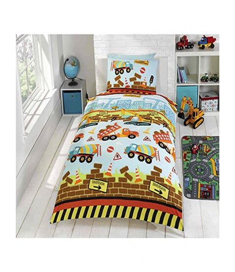 Single Bed Doona Cover Set ~ Under Construction - PRE ORDER