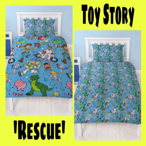 Single Bed Doona Cover Set 'Rescue' ~ Toy Story