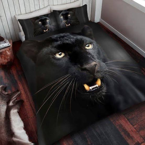 Double / Queen Bed Doona Cover Set ~ Black Panther - SALE