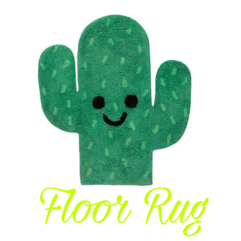 Floor Rug 'Happy' ~ Cactus - SALE