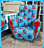 Wooden Framed & Upholstered Kids Reading / Lounge Chair Inspired By Finding Nemo