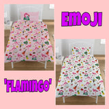 Single Bed Doona Cover Set 'Flamingo' ~ Emoji