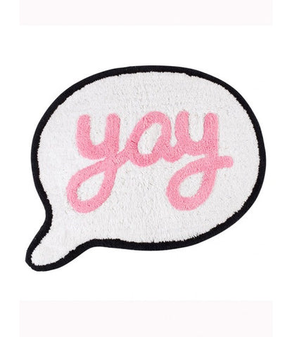 Floor Rug 'Yay' ~ Speech Bubbles