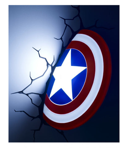 3D LED Wall Light 'Captain America Shield' ~ Marvel Avengers