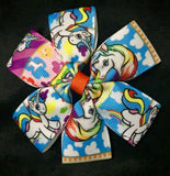 Hair Clips Set Of One ~ Unicorns
