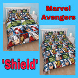 Double / Queen Bed Doona Cover Set 'Shield' ~ Marvel Avengers