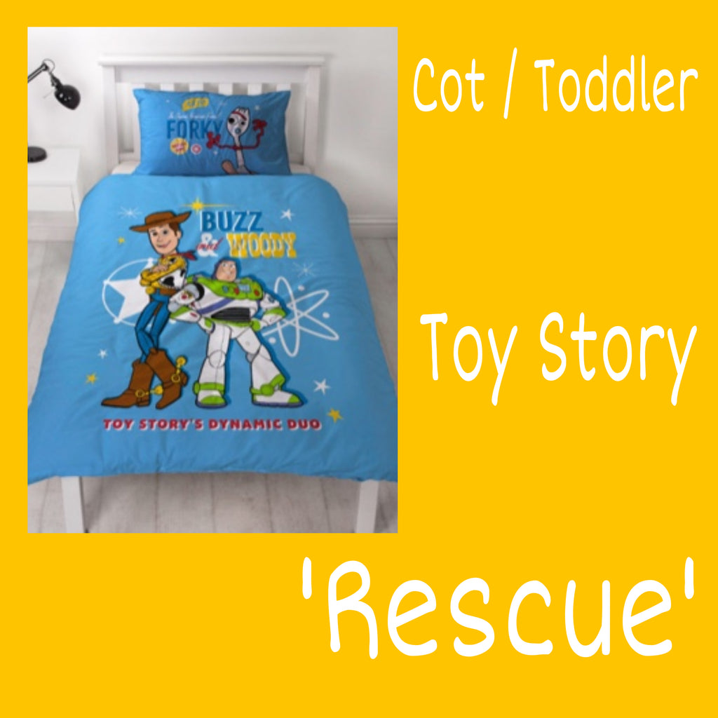 Cot /Toddler Bed Doona Cover Set 'Rescue' ~ Toy Story 4