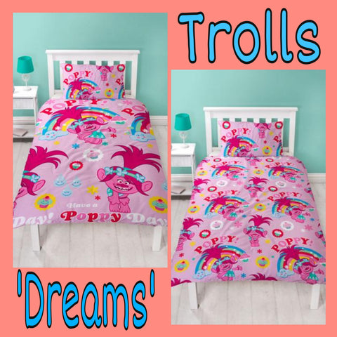 Single Bed Doona Cover Set 'Dreams' ~ Trolls
