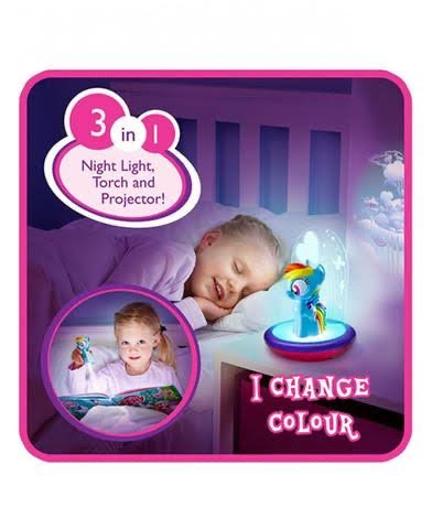 3 in 1 Magic Go Glow Night Light 'Rainbow Dash' ~ My Little Pony