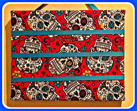 SUGAR SKULLS Hair Clips Hanging Display - SALE