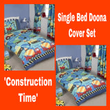 Single Bed Doona Cover Set ~ Construction Time