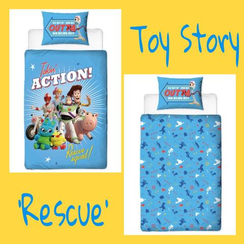 Single Bed Panel Doona Cover Set 'Rescue' ~ Toy Story 4