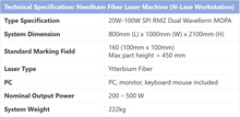 Load image into Gallery viewer, Needham Fiber Laser Machine (N-Lase Workstation)