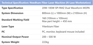 Needham Fiber Laser Machine (N-Lase Workstation)