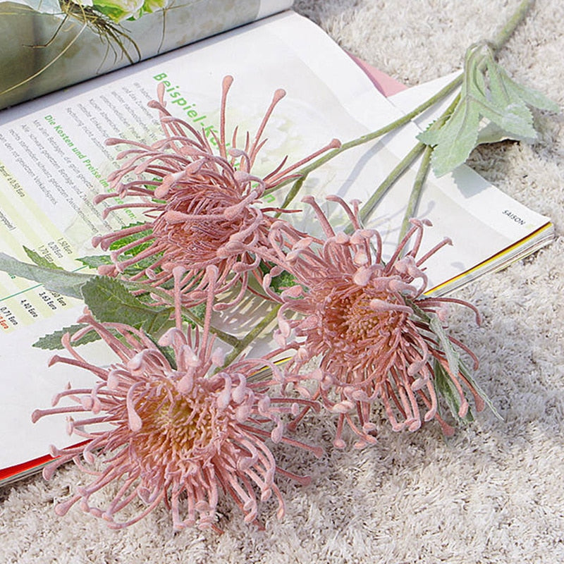 Artificial Leucospermum Flowers - Rari Luxuries