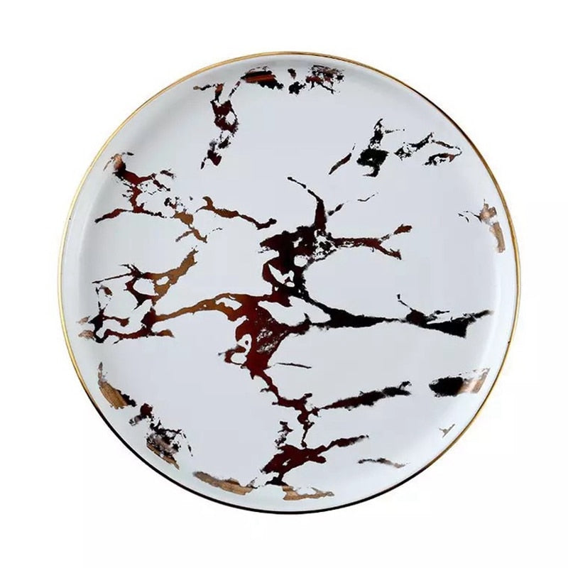 Marble Dinner Plates - Rari Luxuries