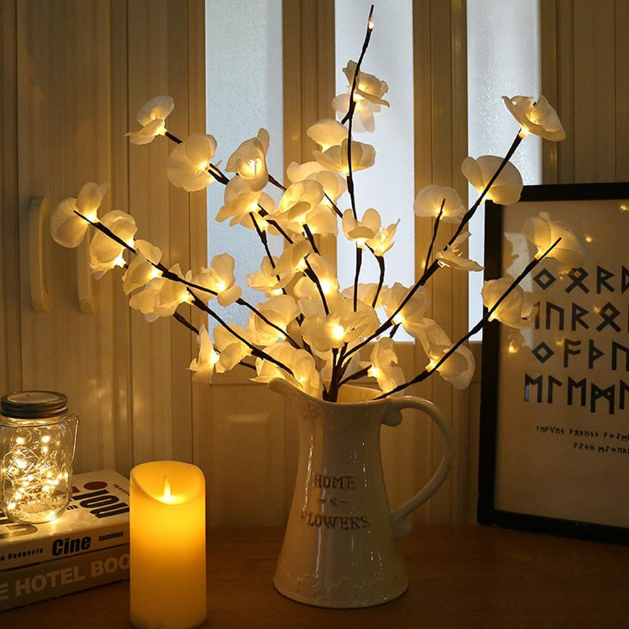20 LED Orchid Branch Lights - Rari Luxuries