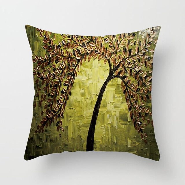 Nordic Style Oil Painting Cushion Covers - Rari Luxuries