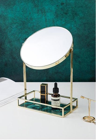 Vanity Mirror With Storage Tray - Rari Luxuries