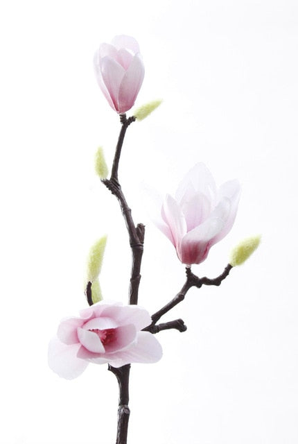 Artificial Silk Magnolia Flowers - Rari Luxuries