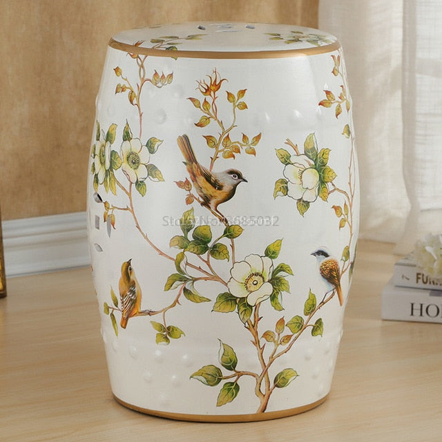 Country Style Pouf Drum - Rari Luxuries