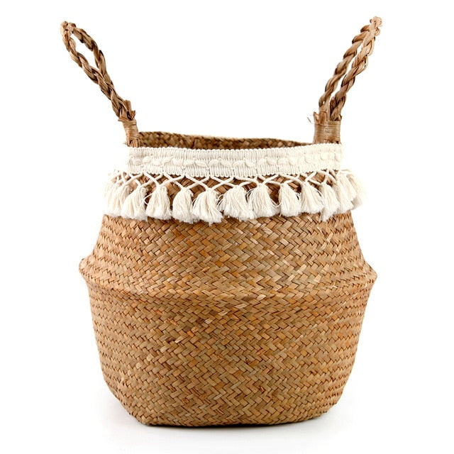 Woven Storage Basket - Rari Luxuries