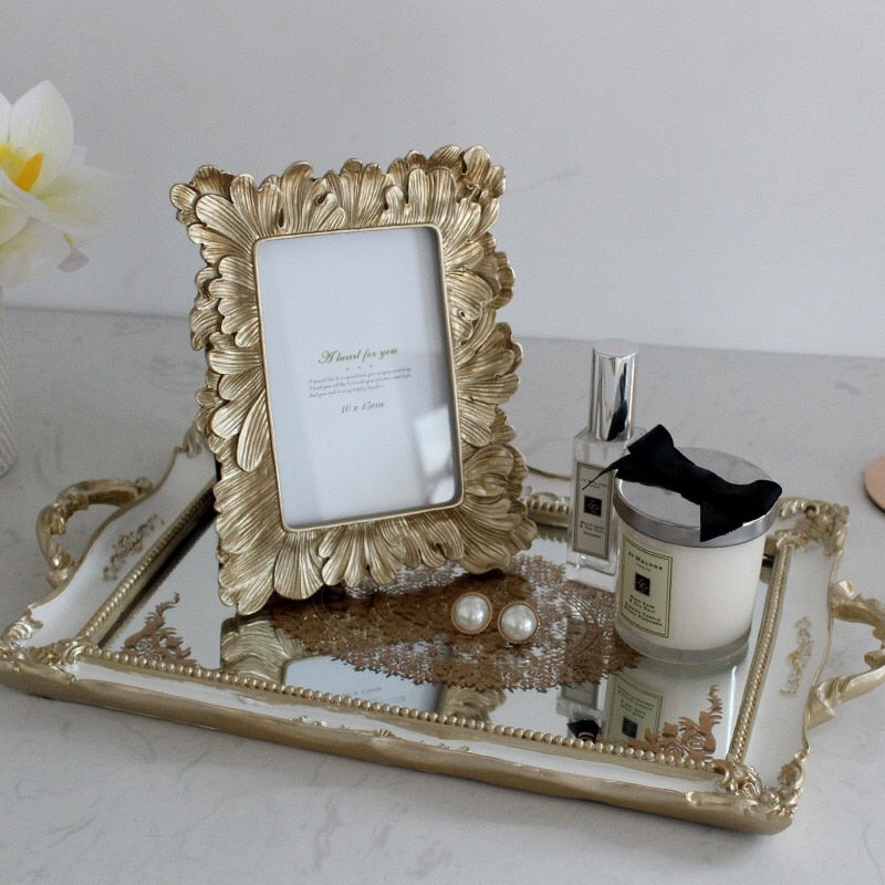 Gold Ginkgo Photo Frames - Rari Luxuries