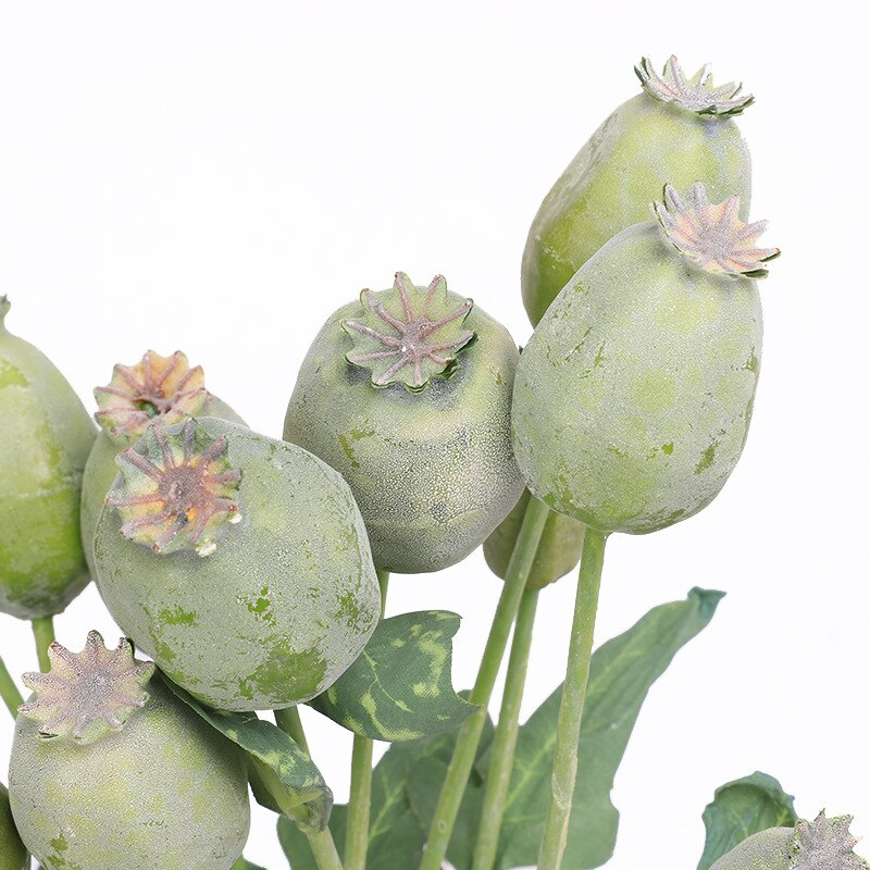 Artificial Poppy/Nut Flower Branch - Rari Luxuries