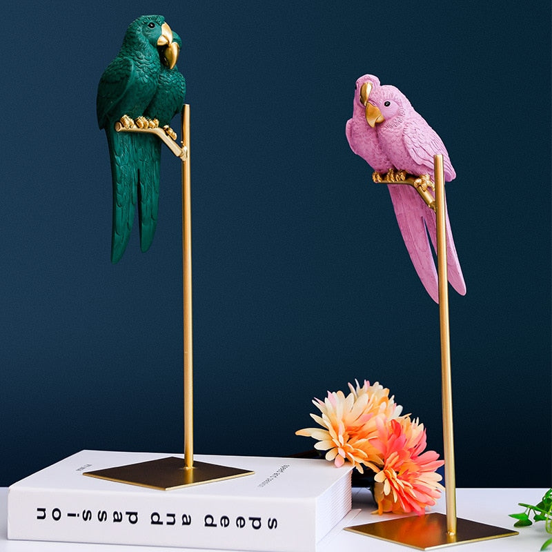 Nordic Decorative Parrots - Rari Luxuries